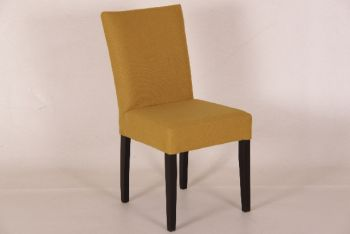 st0516 mo lg ko Stuhl Tanja aus Stoff, gelb/lever