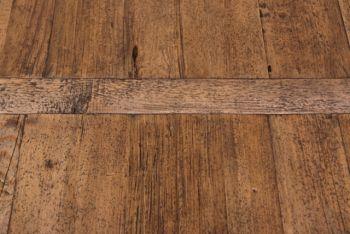 Esstisch aus Pappelholz mit Säulenfuß
