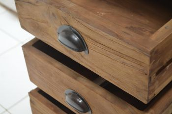 rustikales Schubladenschränkchen 50 x 40 x 104 cm