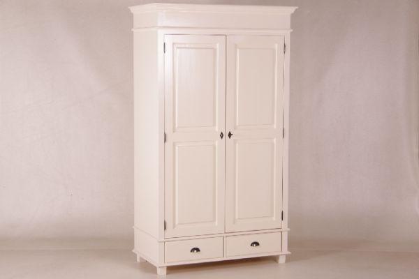 kas1022 cremewei er kleiderschrank 205 120 60 cm. Black Bedroom Furniture Sets. Home Design Ideas