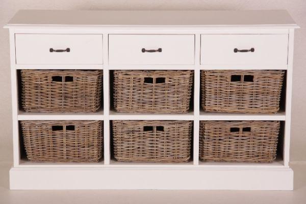 kas1004 wi wei e anrichte mit 3 laden 6 rattank rben. Black Bedroom Furniture Sets. Home Design Ideas