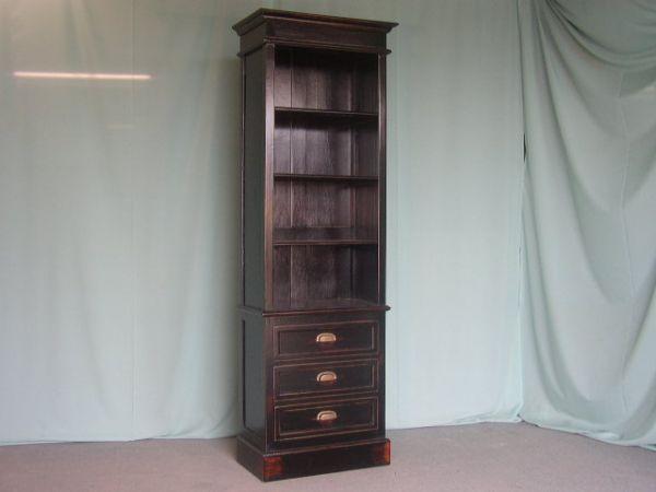 kas919 zw schmaler b cherschrank mit 3 schubladen 210x061x036. Black Bedroom Furniture Sets. Home Design Ideas