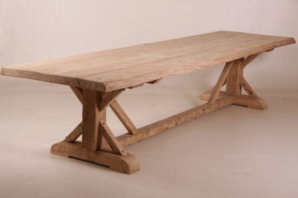 Baumstamm-Tisch aus alter Eiche 95 * 350 cm