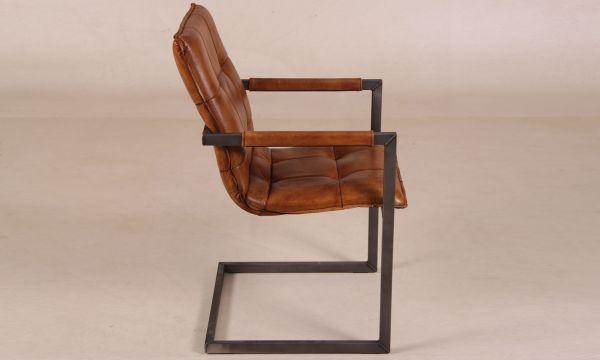 freischwinger liverpool aus b ffelleder cognac. Black Bedroom Furniture Sets. Home Design Ideas