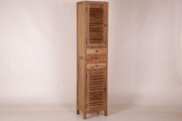 Küchenschrank schmal  in6339 schmaler Schrank mit Lammellentüren 202*40*35 cm