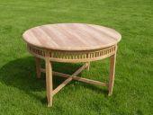 Gartentisch Betawi aus Naturholz Ø 120