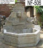 NF-506 Natursteinbrunnen mit antikfinish (Blaustein)