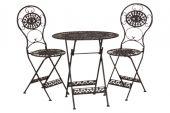 de1585 zw Tea for two Set Eisenklappstühle mit Tisch
