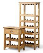 Weinschrank aus massiv Teak, in klein oder groß