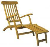 Liegestuhl aus Teak Deckchair