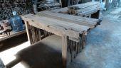 Wandtisch Erosi  150 oder 200 cm aus alten Bahnschwellen