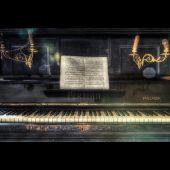 Glasbild DiBond Piano 80*120 cm
