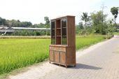 Vitrinenschrank Java-Besi Dengkleh in 160 cm oder 200 cm Breite
